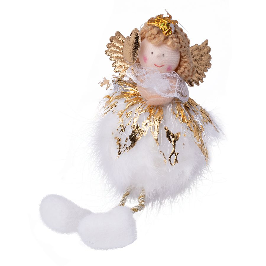Christmas tree decoration angel -gold heart