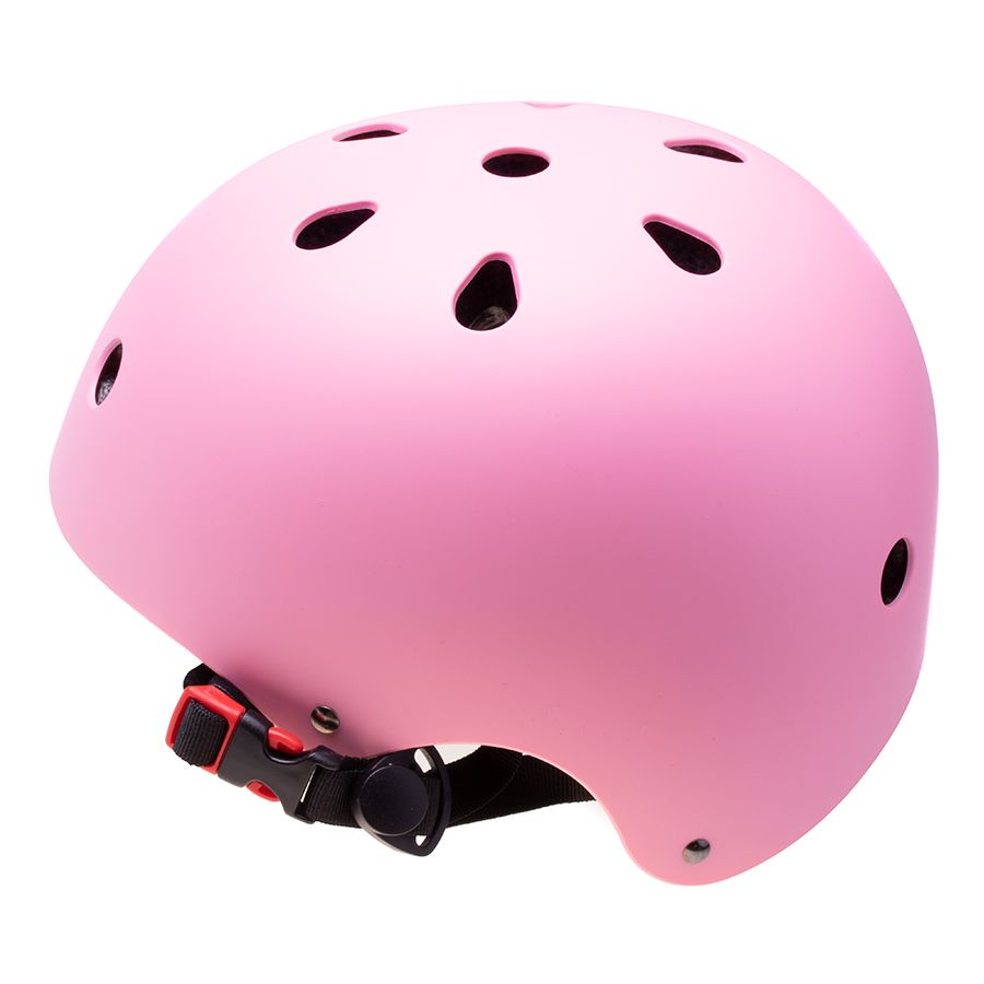 Adjustable helmet for a child on a bicycle / rollers - pink, size S