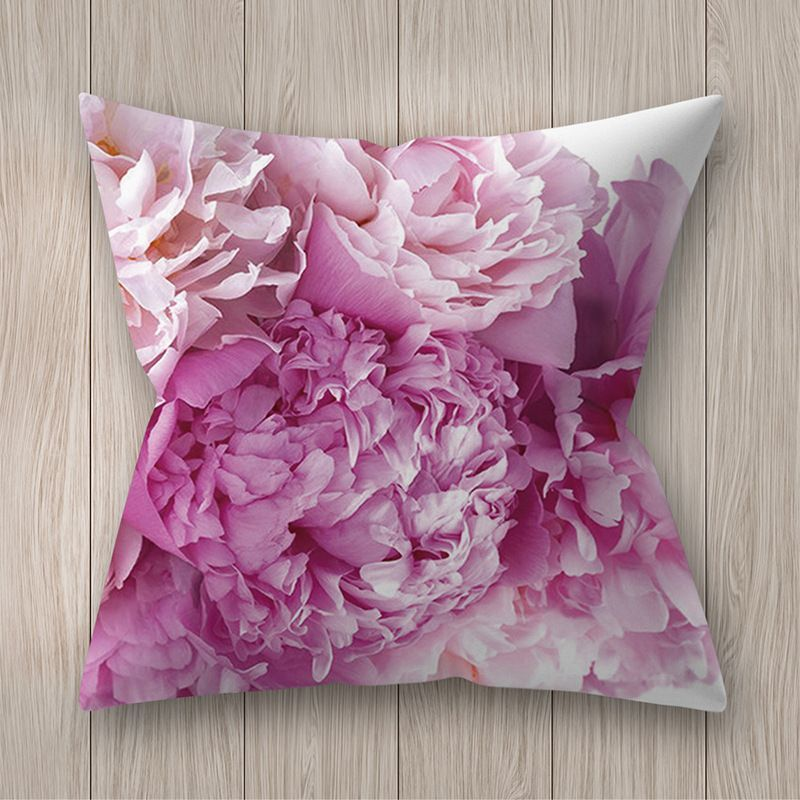 Decorative pillowcase with flowers - pattern III