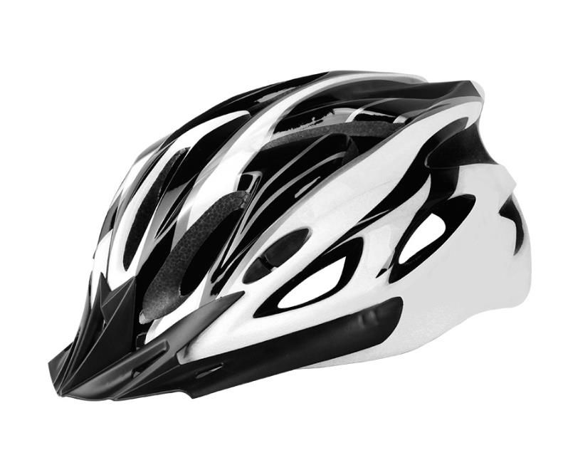 Universal helmet for bicycles - black and white
