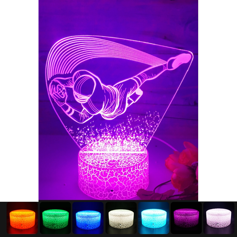 "3D LED night lamp ""Goalkeeper"""
