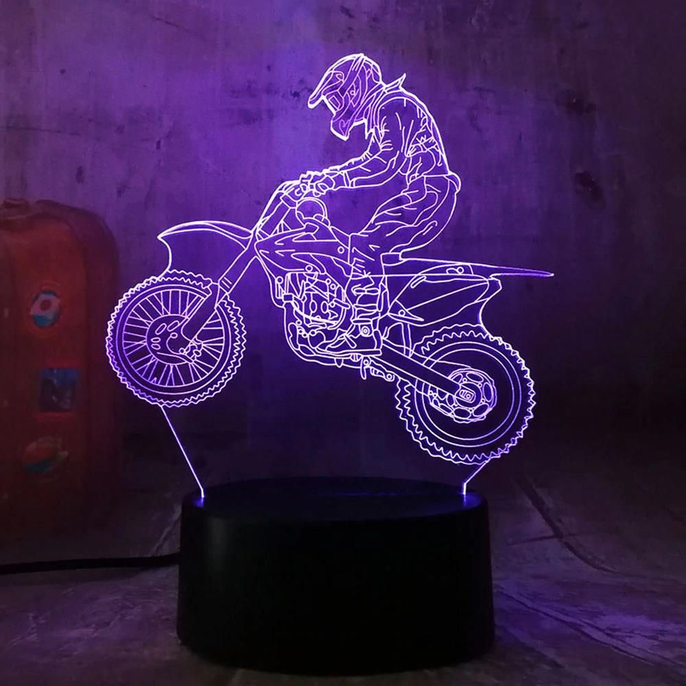 "3D LED Night Lamp ""Cross"" Hologram + remote control"