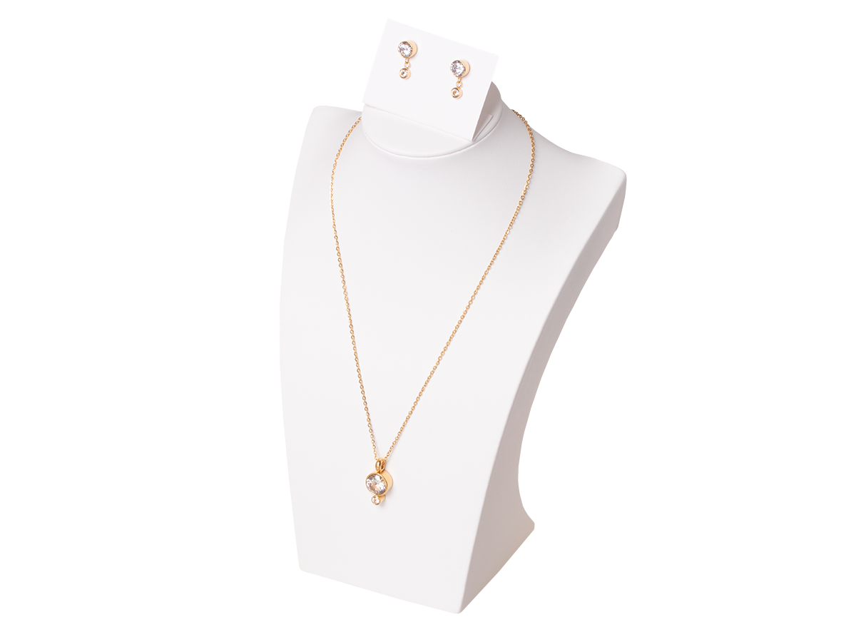 Complete necklace with Xuping earrings - gold
