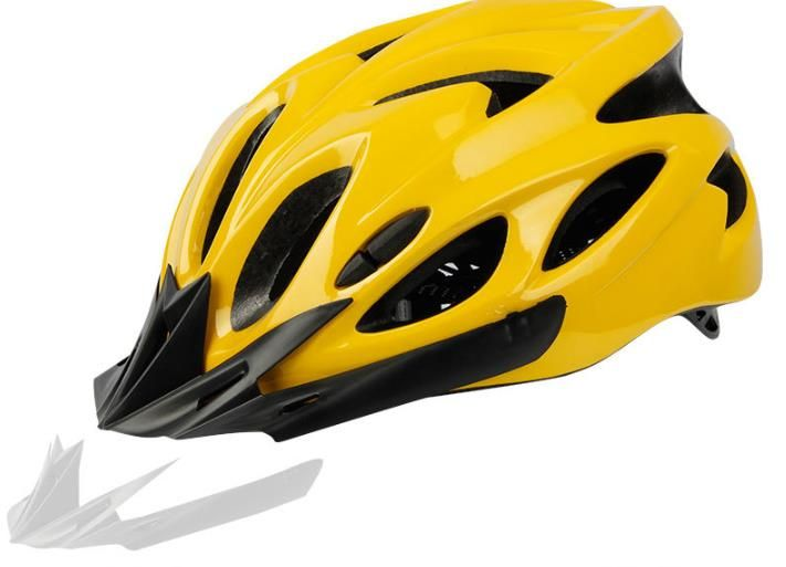 Universal helmet for bicycles - yellow and black