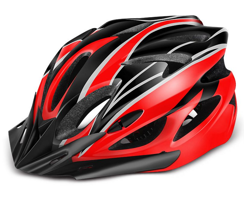 Universal helmet for bicycles - red-black