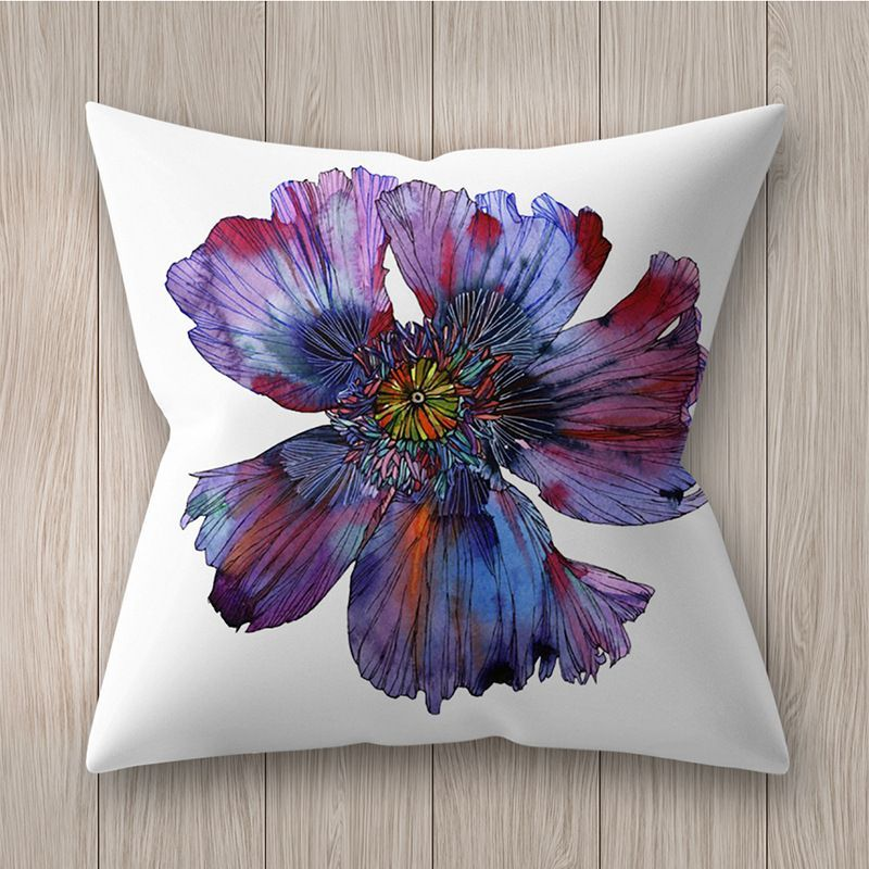 Decorative pillowcase with flowers - pattern V
