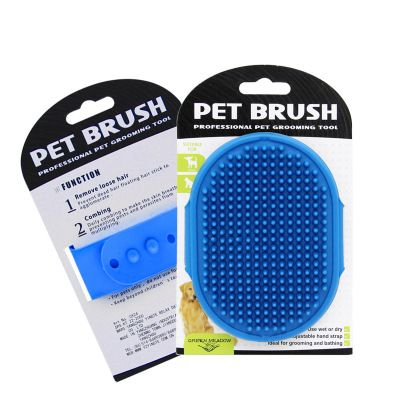 Massage brush for a dog - blue