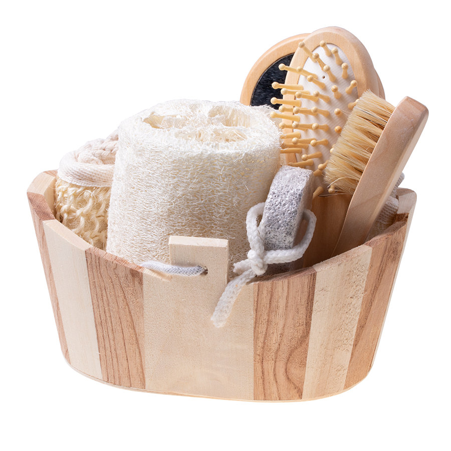 Gift basket SPA set washcloth massage gift - 6 items
