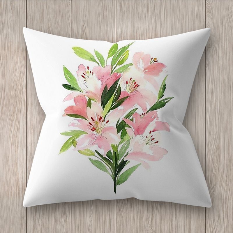 Decorative pillowcase with flowers - pattern VI