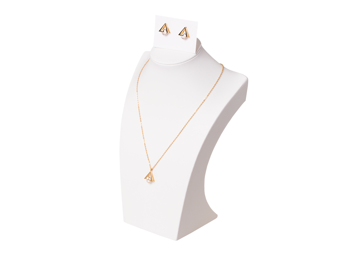 Set of necklace with earrings Xuping Triangles - gold
