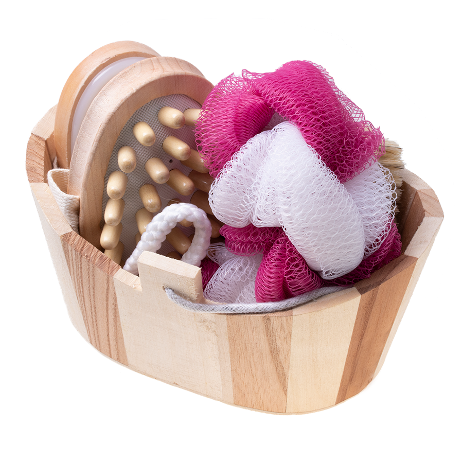 Gift basket set SPA washcloth massage gift - 5 elements