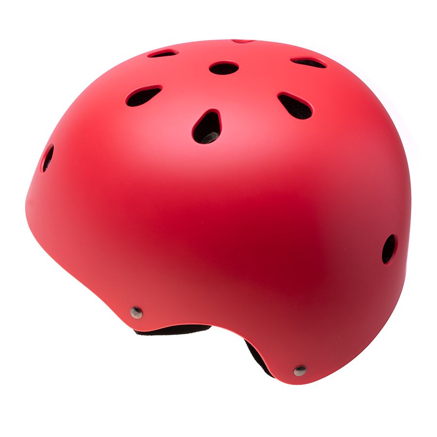 Adjustable helmet for a child on a bicycle / rollers - red, size M