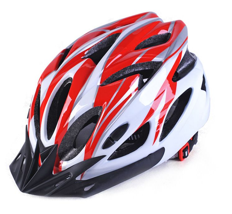 Universal helmet for bicycles - red-white