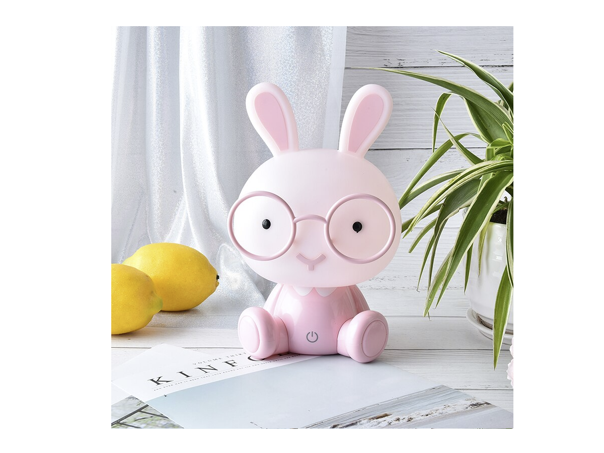 Children's night lamp Rabbit - pink