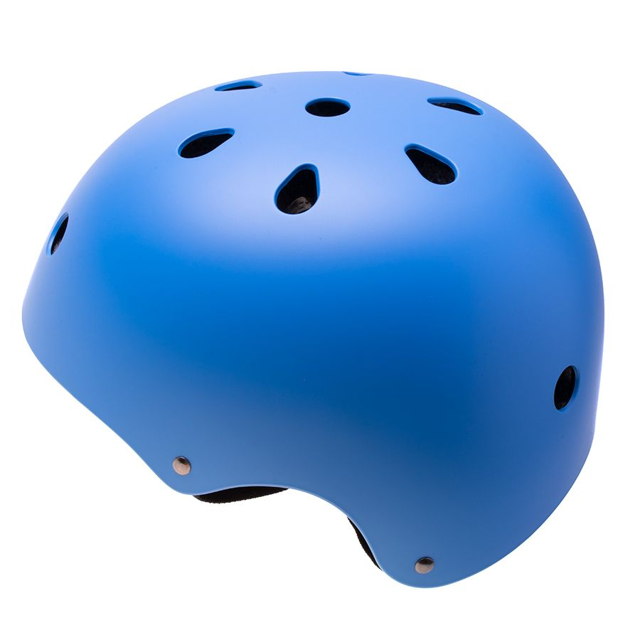 Adjustable helmet for a child on a bicycle / rollers - blue, size M