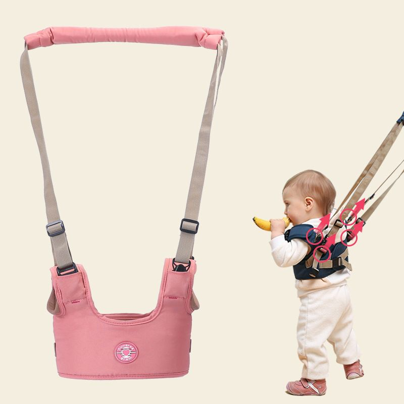 Braces for children to learn to walk, a walker - pink