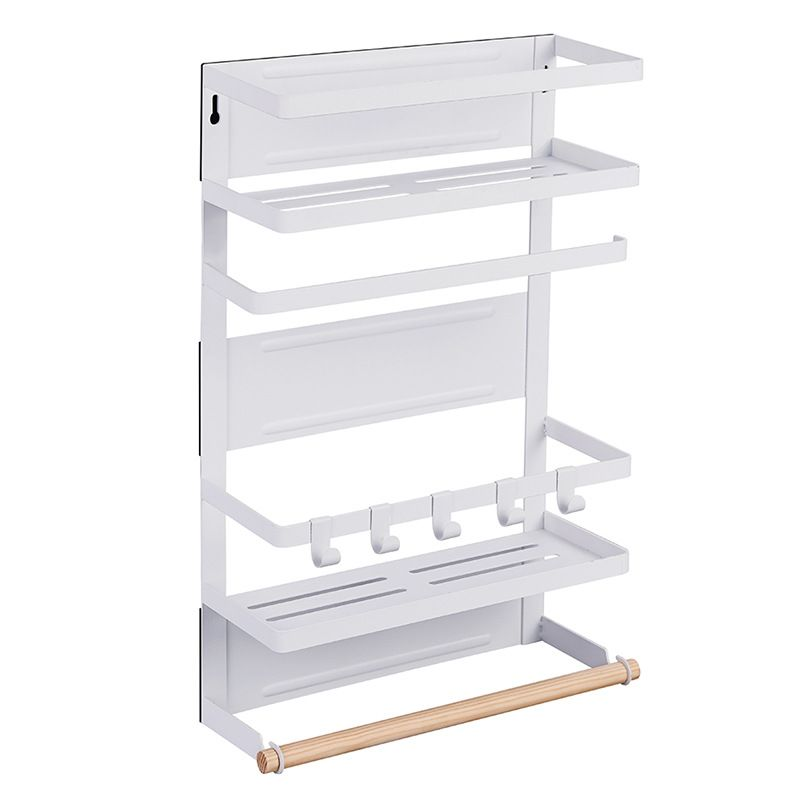 Magnetic organizer for kitchen accessories - three-level