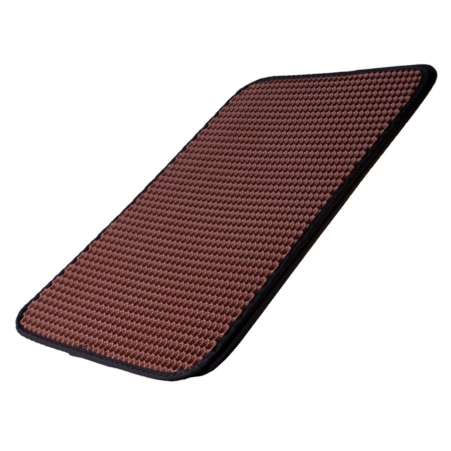 Cat mat for doormat litter box - brown