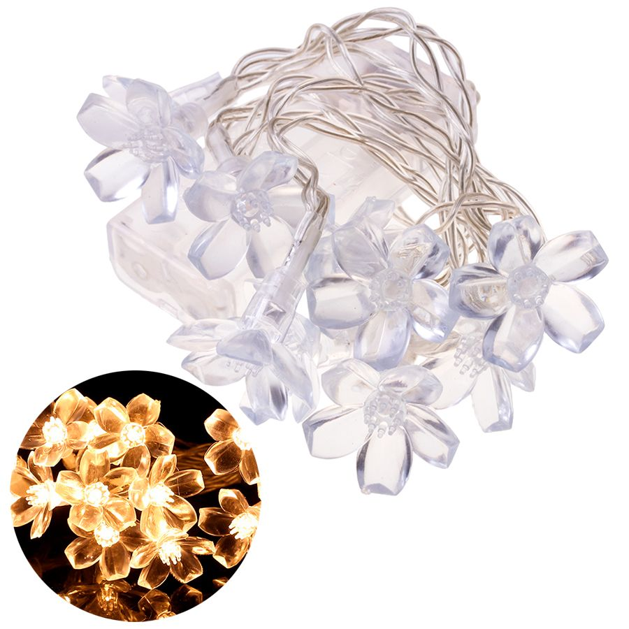 Decorative lamps in the shape of a flower - warm white light