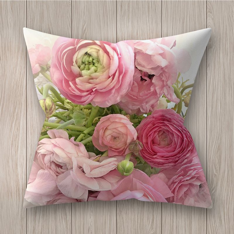 Decorative pillowcase with flowers - pattern I