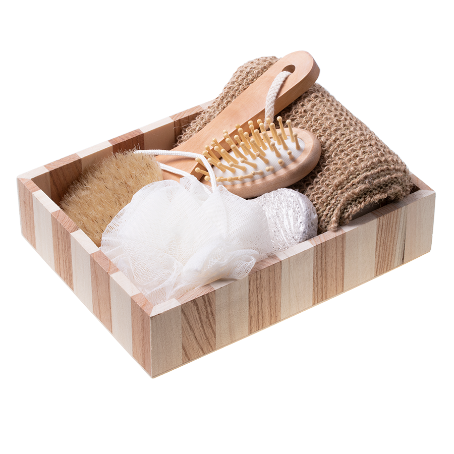 Gift basket set SPA washcloths massage gift- 5 items