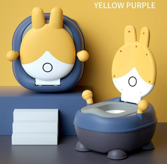 Multifunctional potty for children 3in1 - yellow and blue