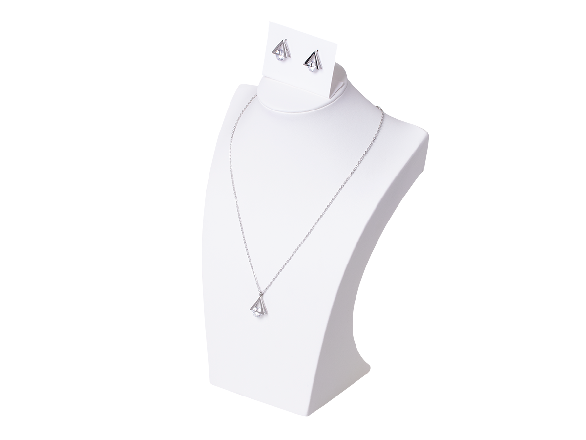 Set of necklace with earrings Xuping Triangles - silver
