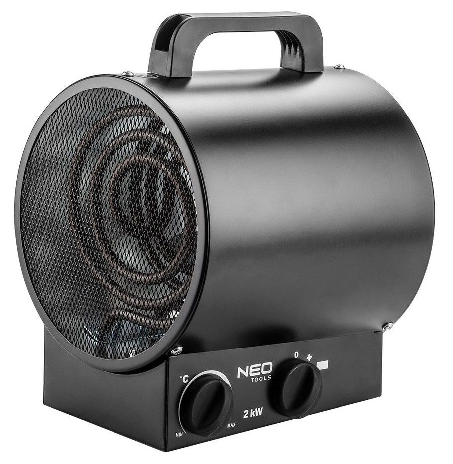 NEO TOOLS 90-065 electric space heater Stainless steel 2000 W Black