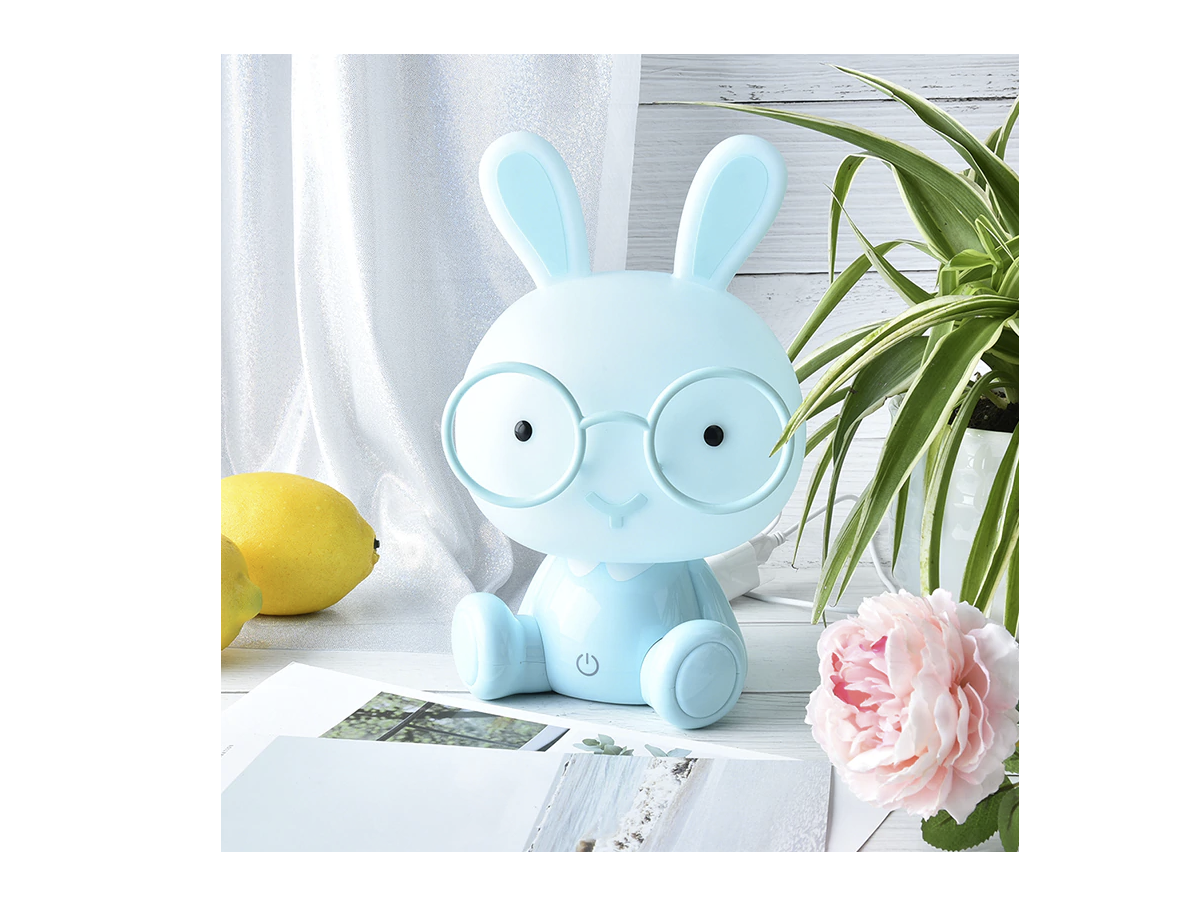 Children's night lamp Rabbit - blue