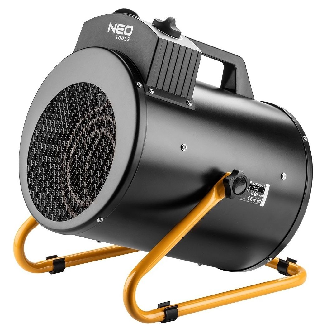 NEO TOOLS 90-069 electric space heater Stainless steel 5000 W IPX4 Black