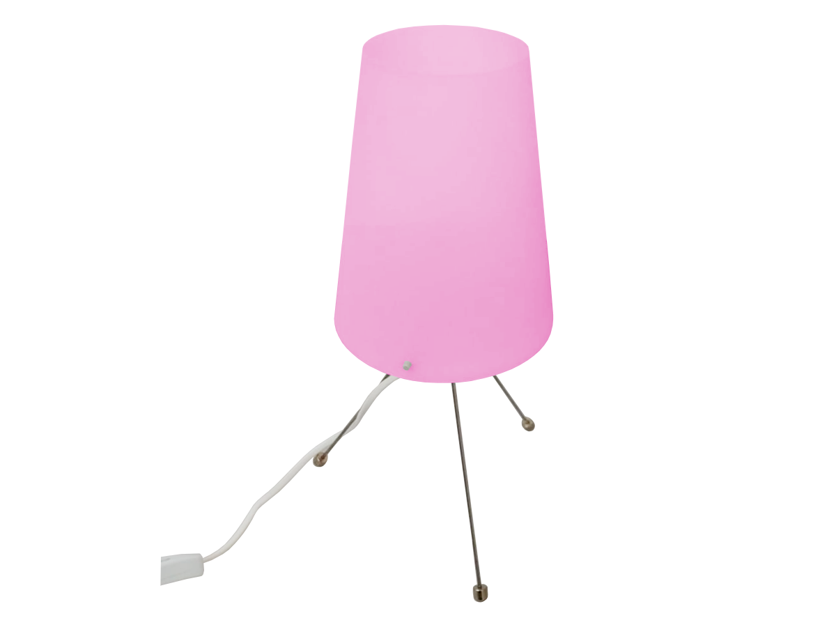 Table, desk, night lamp. Pink modern pattern.