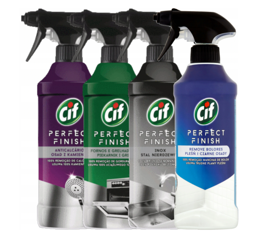 Cleaning spray set Cif Perfect Finish 4x435ml