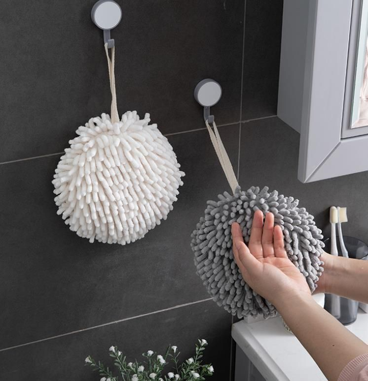 Japanese quick-drying chenille towel for kitchen and bathroom - white