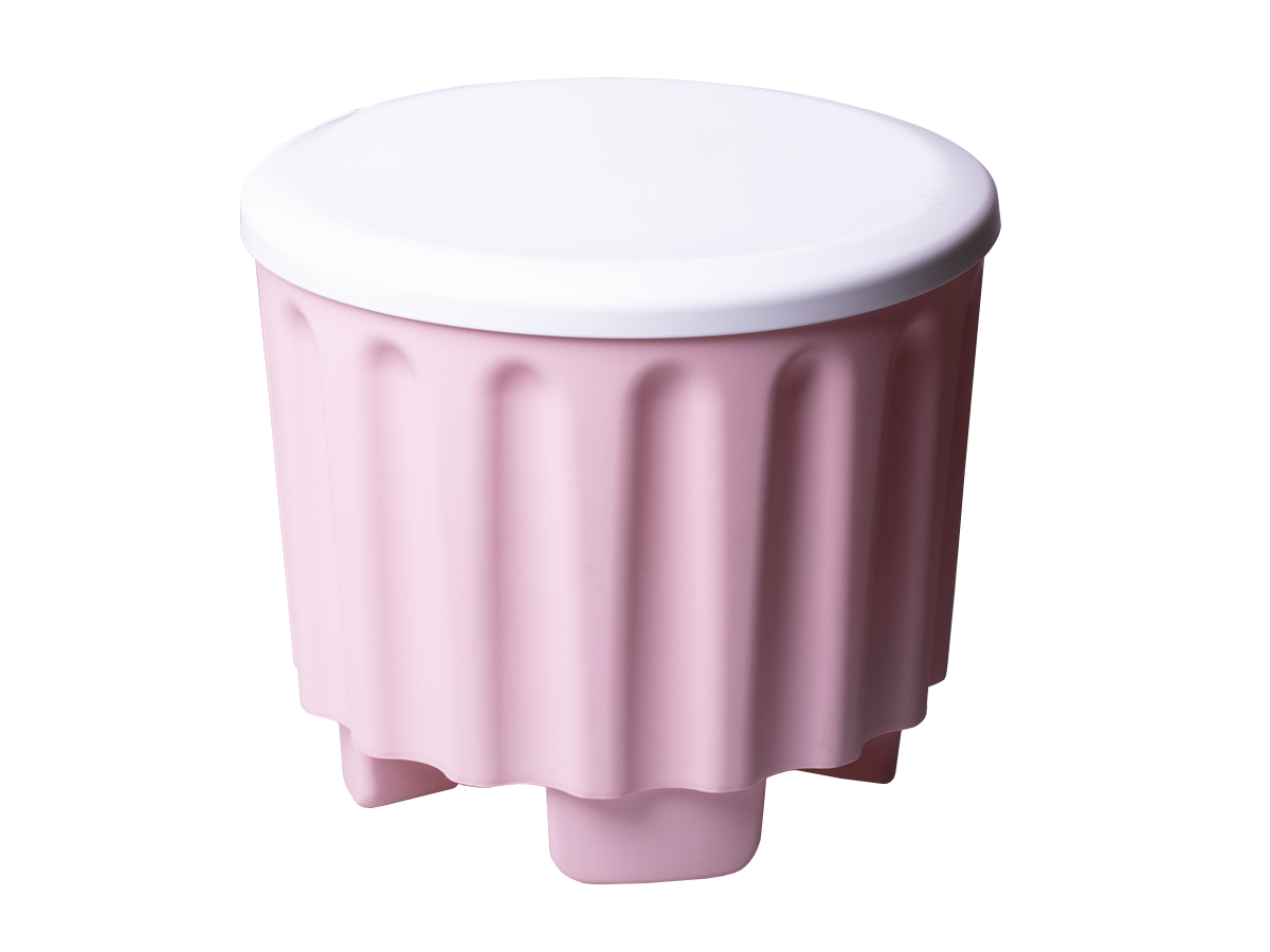 A box for stool-shaped toys
