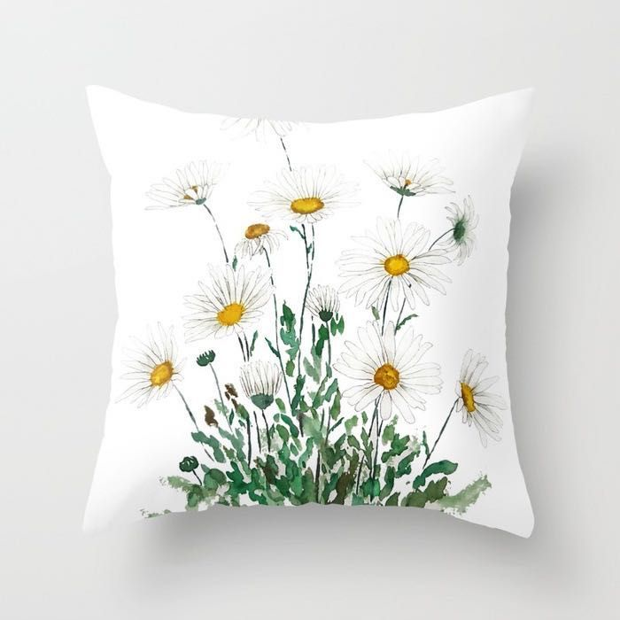 Decorative pillowcase with flowers - pattern VII