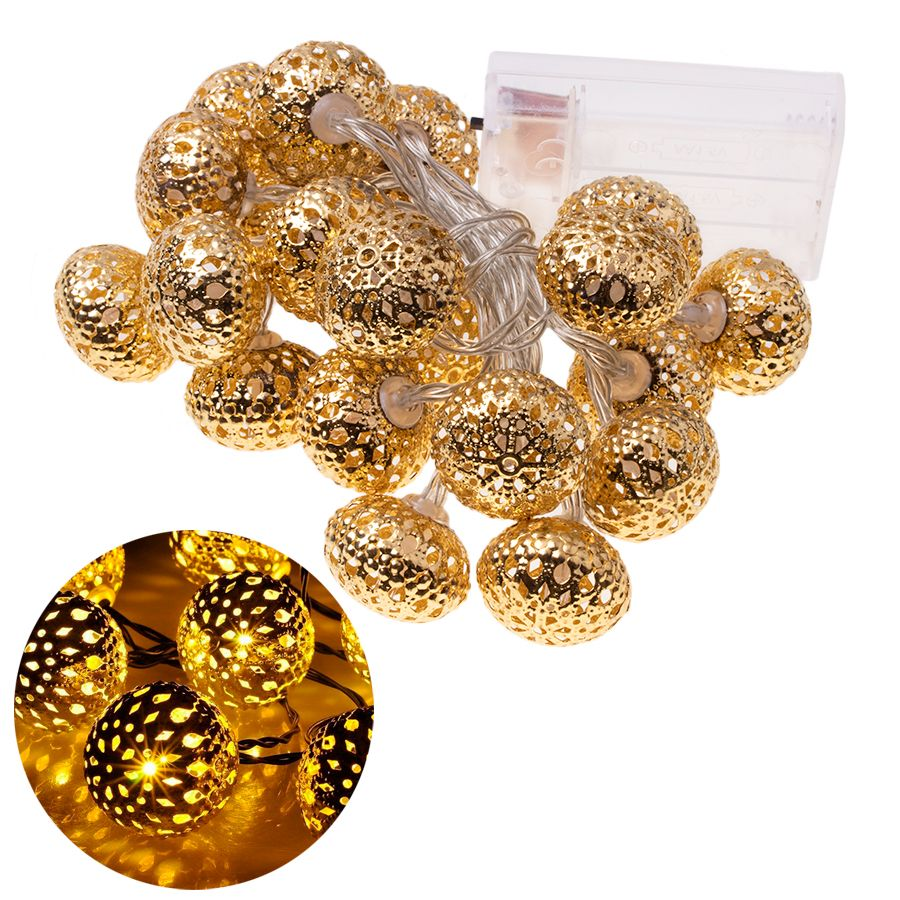 Decorative LED lights - a bright golden ball