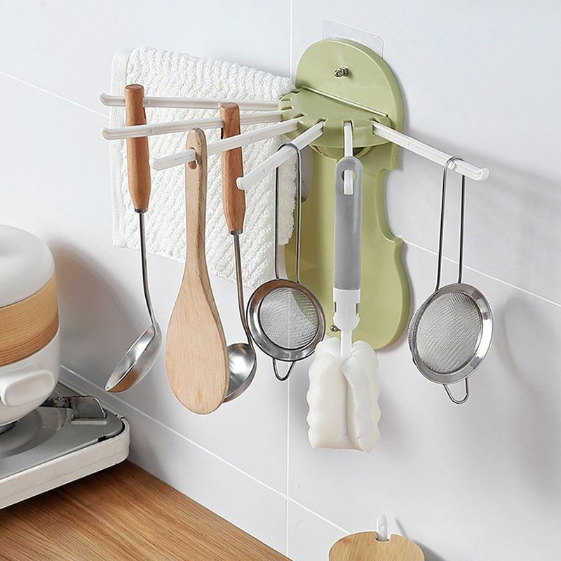 Hook for hanging kitchen accessories - green