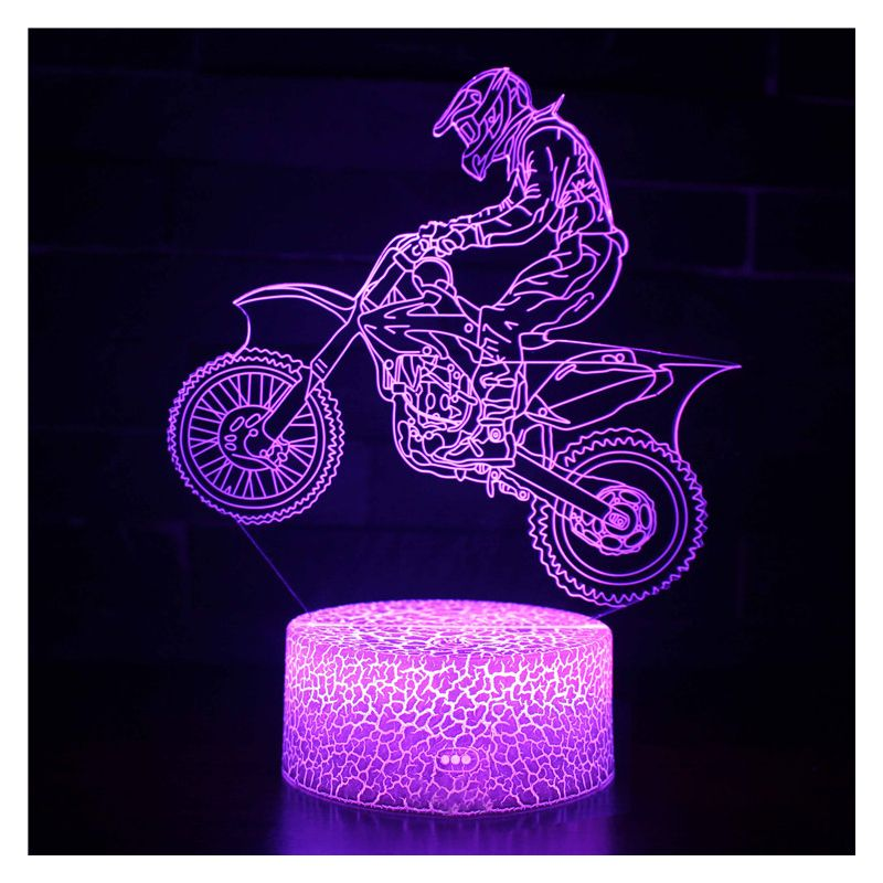 "3D LED night lamp ""Speeder"" Hologram + remote control"