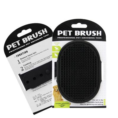Massage brush for a dog - black