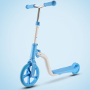 2-in-1 cross-country bike or scooter - blue