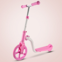 2-in-1 cross-country bike or scooter - pink