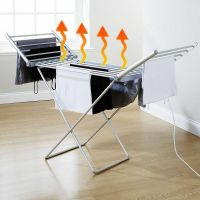 Electric foldable laundry dryer