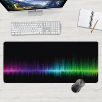 Gaming mouse and keyboard pad for players size 50x100cm - sound waves