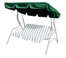 Roof canopy for a garden swing, 163x110 cm, green