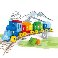 Set of blocks - train with numbers (31 Pads + 10 Cards)