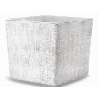Square flower pot from the Ethno Cube collection, 14 cm